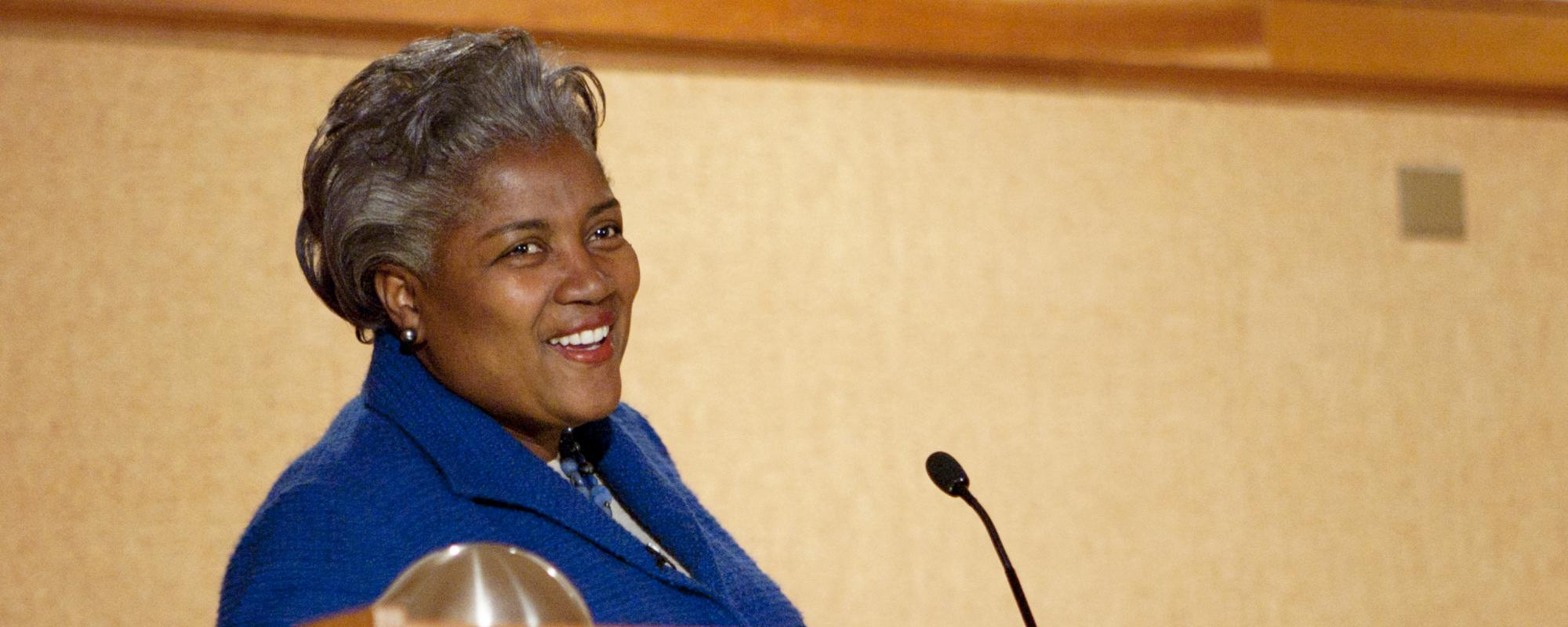 Donna Brazile speaking in 2011.